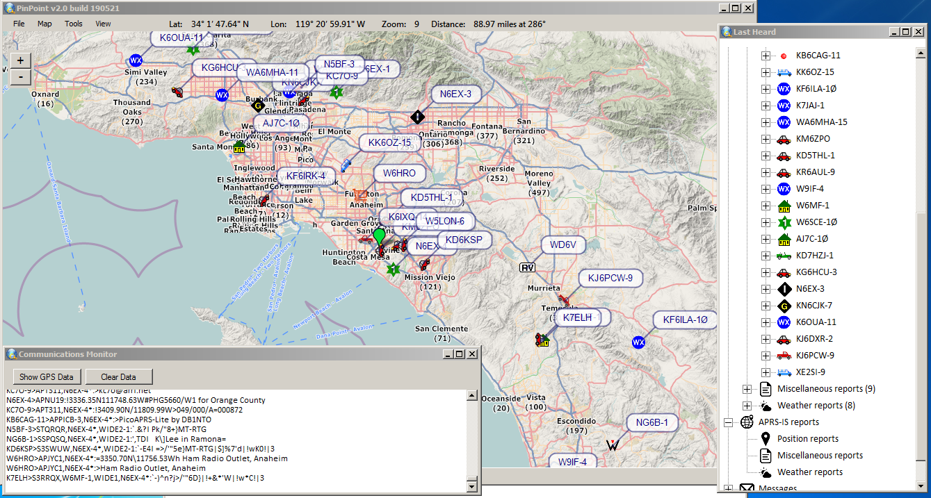 Field Test of PinPoint APRS | KM6ZPO